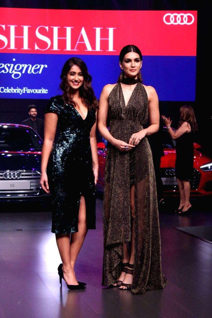 "Actresses Ileana D'Cruz and Kriti Sanon at red carpet of ""Luxury & Fashion As Hello! & Audi"" in Mumbai on Oct 5, 2017. - Ileana D'Cruz"
