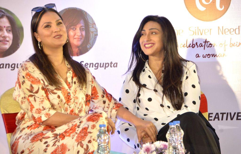 Actresses Lara Dutta and Rituparna Sengupta during a promotional programme in Kolkata on Feb. 2, 2019. - Lara Dutta and Rituparna Sengupta
