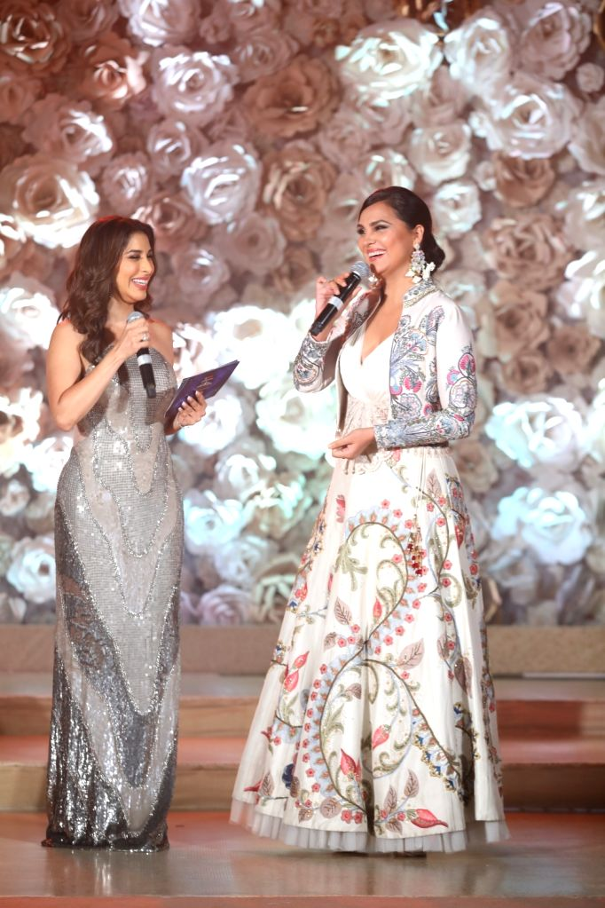 Actresses Sophie Choudry and Lara Dutta Bhupathi at the Miss Diva sub contest in New Delhi on Aug 9, 2018. - Sophie Choudry and Lara Dutta Bhupathi