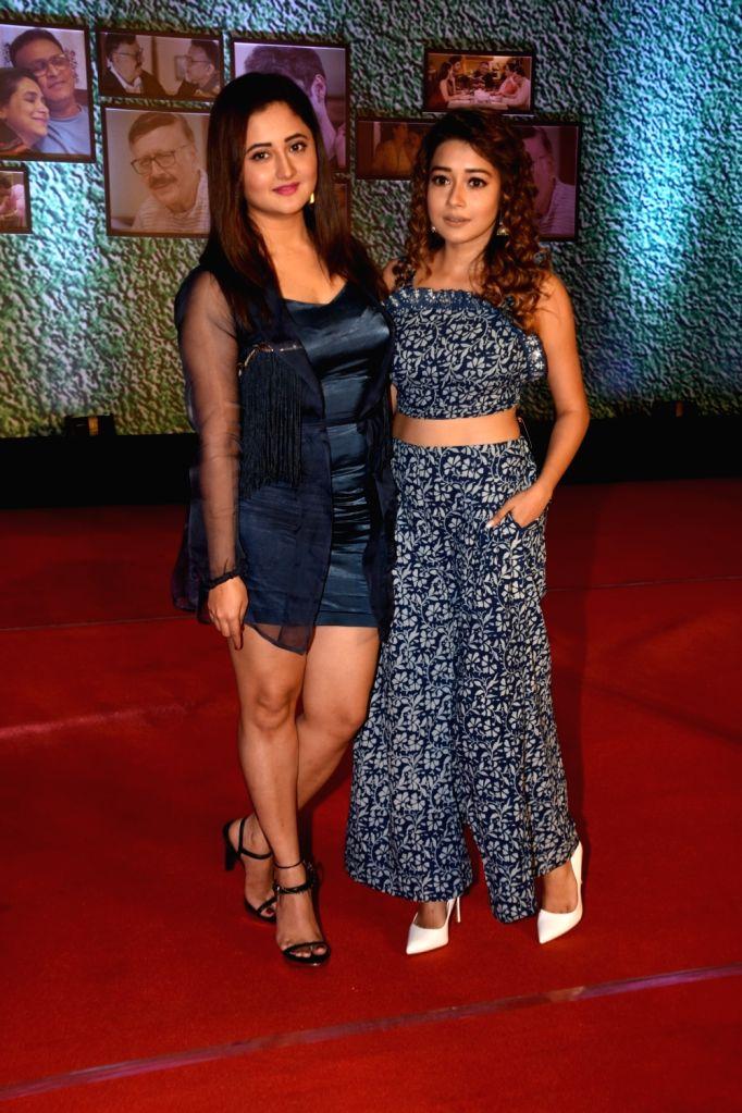 """Actresses Tina Dutta and Rashami Desai at the premiere of Ekta Kapoor's AltBalaji web series """"Home"""" in Mumbai on Aug 27, 2018. - Tina Dutta, Rashami Desai and Ekta Kapoor"""