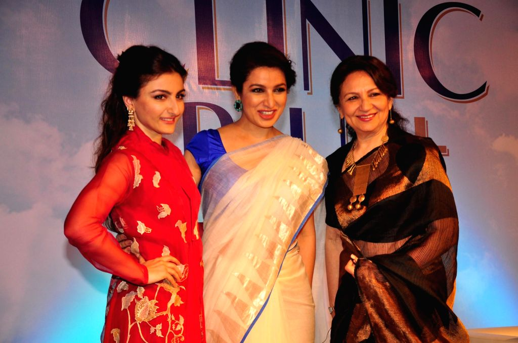 Actressess Soha Ali Khan, Sharmila Tagore and Tisca Chopra during the felicitation ceremony of Clinic Plus scholarship programme 2014-15  in Mumbai on 20th Jan 2015. - Tisca Chopra