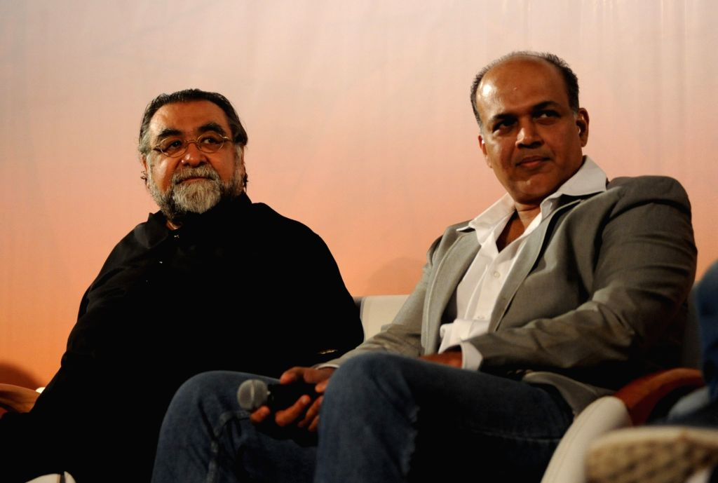 Ad mekar Prahlad Kakkar,film director Ashutosh Gowariker, during the launch of 'Talent Next' web site in Mumbai on July 11, 2016. - Ashutosh Gowariker