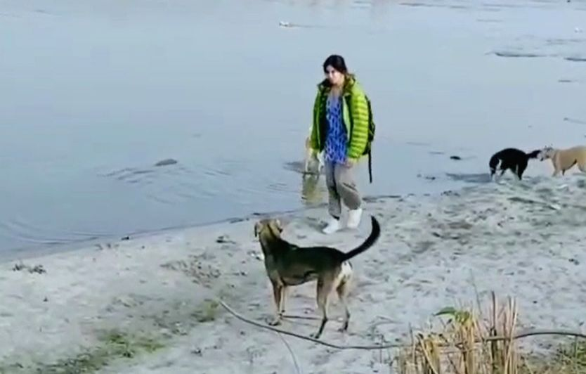 Adah Sharma chose to start 2020 with a vacation, and going by her social media posts and pictures she had the time of her life. n a video she shared on social media, Adah is seen playing with a couple of stray dogs on the banks of the Ganga. - Adah Sharma