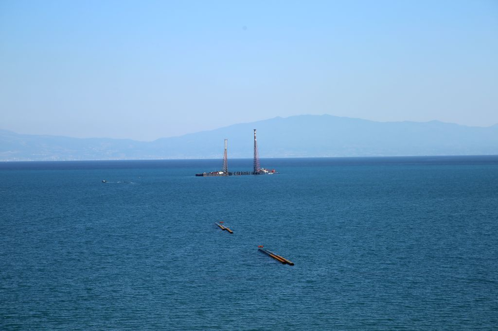 ADANA (TURKEY), Sept. 22, 2019 Photo taken on Sept. 22, 2019 shows the construction site of the Hunutlu Thermal Power Plant near Adana, Turkey. The Hunutlu Thermal Power Plant, China's ...