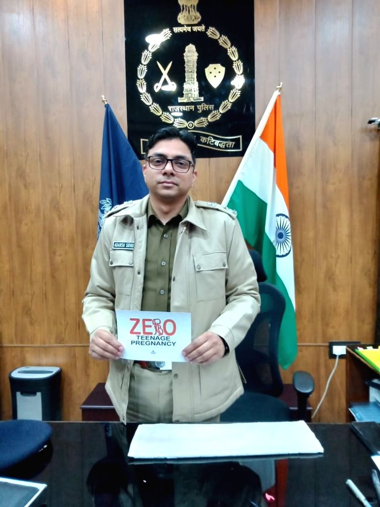 Adarsh Sidhu, the Superintendent of Police in Tonk, supporting the campaign.