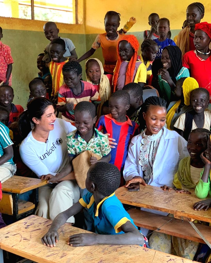 Addis Ababa: After enthralling fans with her fashion game at the Cannes Film Festival 2019, actress Priyanka Chopra Jonas is currently in Ethiopia spending time with refugee children. (priyankachopra/Instagram) - Priyanka Chopra Jonas