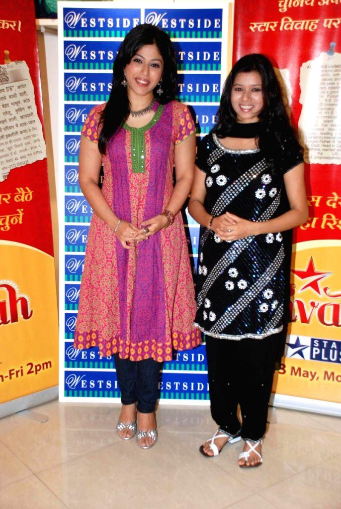 Addite Shirwaikar at Westside store for Star Vivaah. in Mumbai.