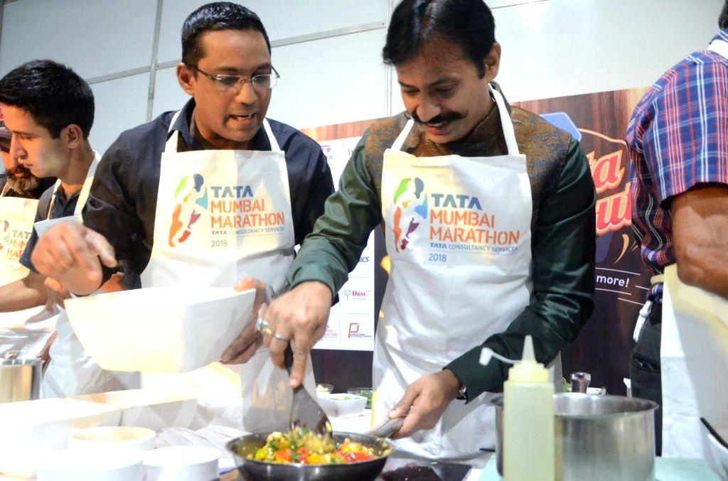 Additional Commissioner of Police (South Region) in Mumbai Krishna Prakash during a pasta party organised ahead of Mumbai Marathon on Jan 20, 2018.