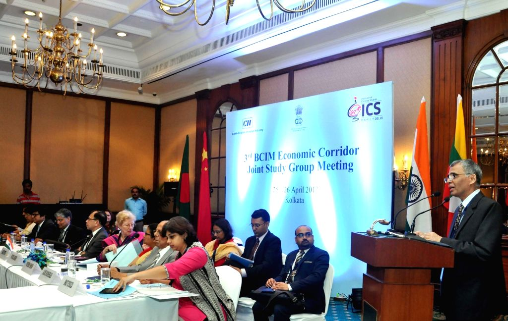 Additional Secretary, Ministry of External Affairs, India, A Gitesh Sarma addresses during the 3rd Bangladesh-China-India-Myanmar Economic Corridor Joint Study Group (BCIM-EC-JSG) meeting in ...