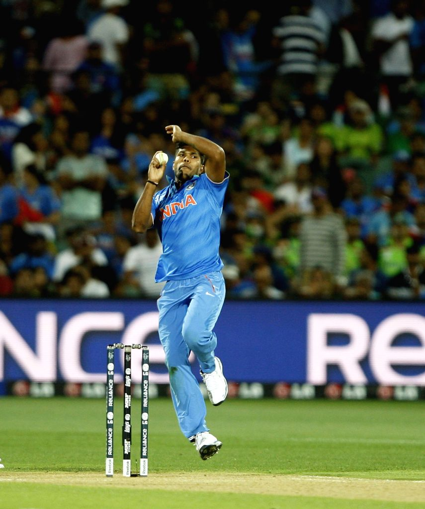 Indian bowler Umesh Yadav in action during an ICC World Cup 2015 match between India and Pakistan at Adelaide Oval in Adelaide, Australia on Feb 15, 2015. - Umesh Yadav