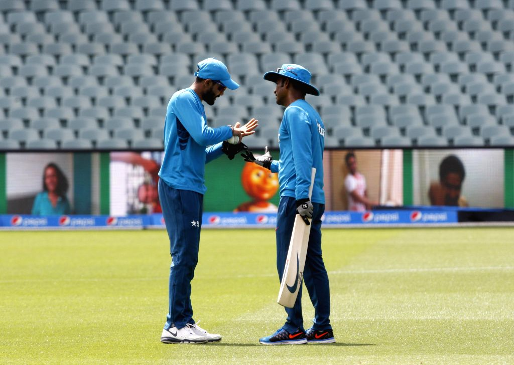 Indian cricketer Ravindra Jadeja during an ICC World Cup - 2015 practice session at Adelaide Oval in Adelaide,  Australia on Feb 14, 2015. - Ravindra Jadeja