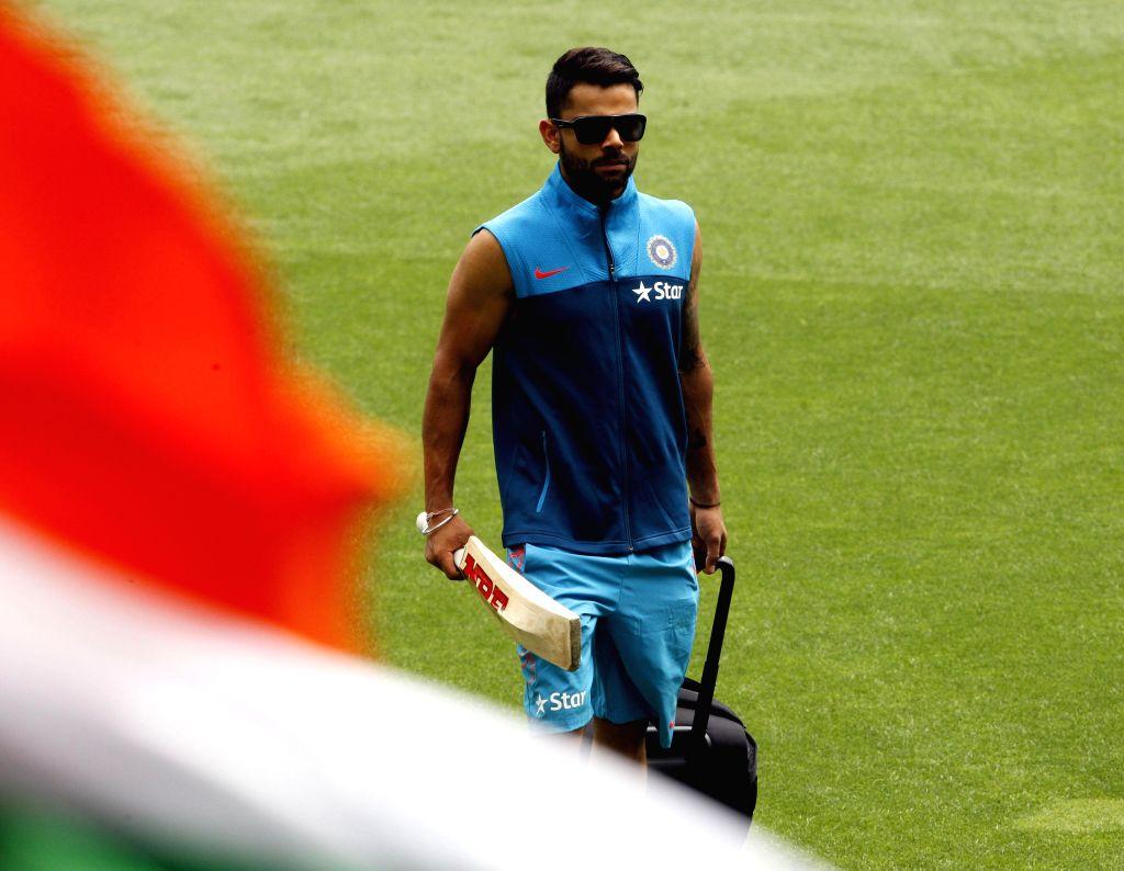 Indian cricketer Virat Kohli during an ICC World Cup - 2015 practice session at Adelaide Oval in Adelaide,  Australia on Feb 14, 2015. - Virat Kohli