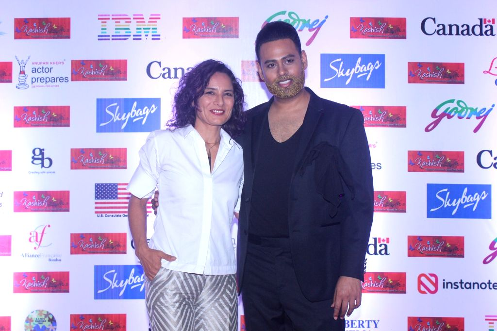 Adhuna Akhtar and Andy during the eighth edition of Kashish Mumbai International Queer Film Festival that kicked-off in Mumbai with 147 movies from 45 countries across the world, celebrating ...