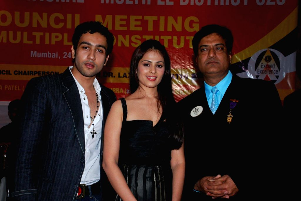Adhyaan Suman and Anjani honoured by lions club.