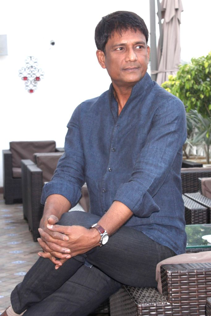 "Adil Hussain at a press meet for upcoming film ""'ZED PLUS'"" in New Delhi on November 21,2014"