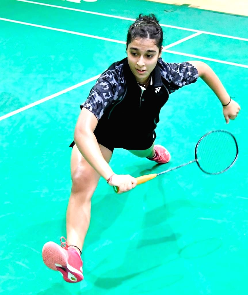 Aditi Bhatt in action during Badminton Asia Junior Championships 2019 at the Suzhou Olympic Sports Centre in China on July 25, 2019.