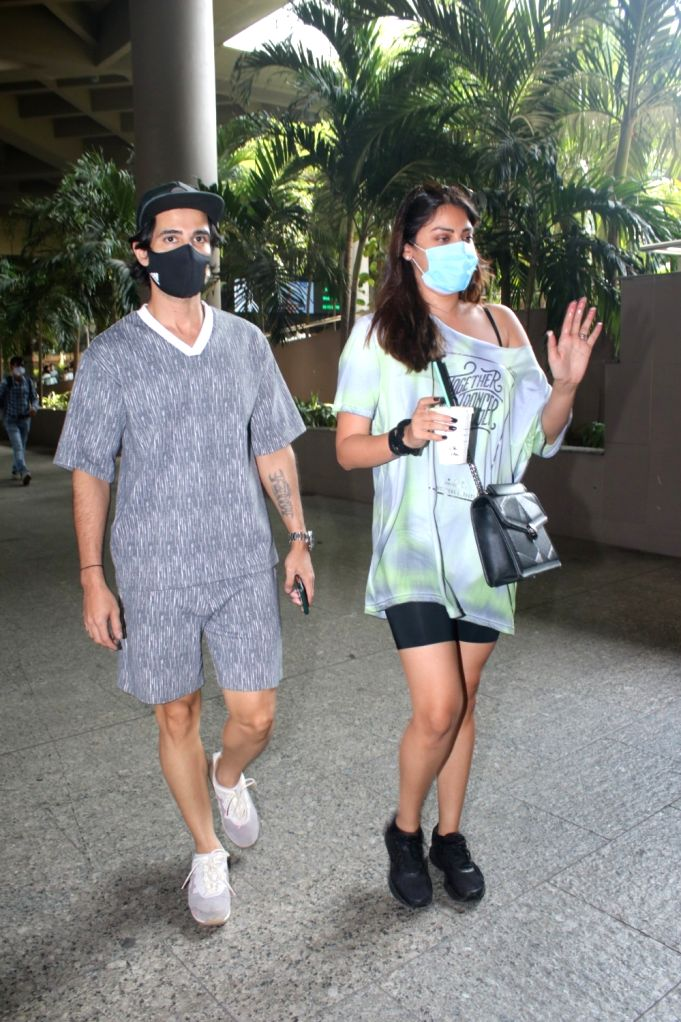 Aditya Seal & Anushka Ranjan Spotted At Airport Arrival on 28 April,2021.