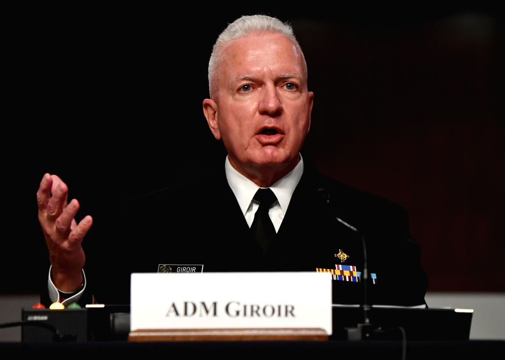 ADM Brett Giroir, Assistant Secretary for Health at the U.S. Department of Health and Human Services, testifies before the U.S. Senate Committee on Health, ...