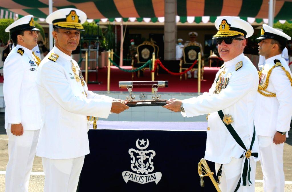 Admiral Amjad Khan Niazi takes over as new Pakistan Navy chief. (Photo Courtesy: Pakistan Navy/Twitter) - Amjad Khan Niazi