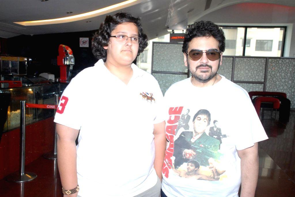 Adnan Sami with his son at Apneeaap NGO special screening at Cinemax - Adnan Sami