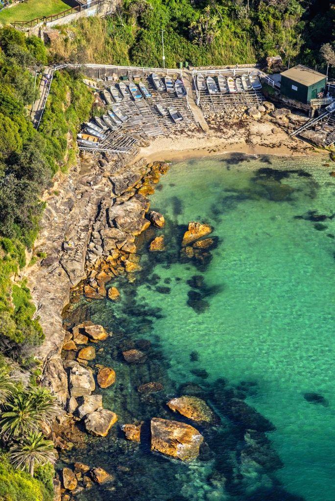 Aerial of Gordon's Bay, Coogee in Sydney