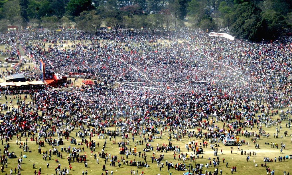 Aerial view of Brigade Parade Ground in Kolkata on Sunday 28th February, 2021.