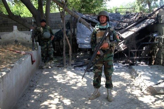 Afghan soldiers participate in military op against Taliban
