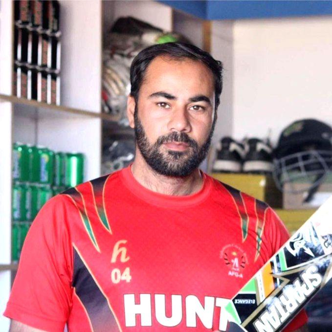 Afghanistan coach Noor Mohammad.