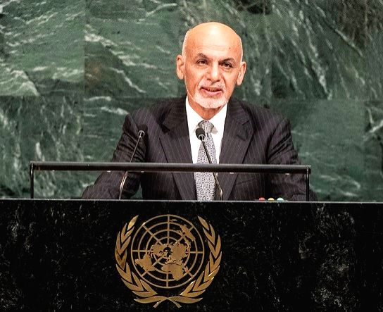Afghanistan President Mohammad Ashraf Ghani addresses the United Nations General Assembly on Tuesday, Sept. 20, 2017. (Photo credit: UN/via IANS)