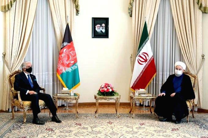 Afghanistan's Abdullah Abdullah meet Iranian President Hassan Rouhani. (Photo Credit: twitter.com/DrabdullahCE) - Hassan Rouhani