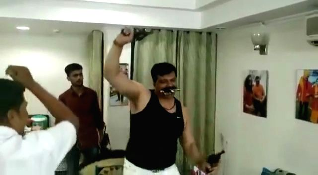 After a video went viral showing him dancing while flaunting guns, the ruling BJP in Uttarakhand on Thursday clarified that its MLA Kunwar Pranav Singh Champion, who has been suspended for an indefinite period, has not been expelled from the party so