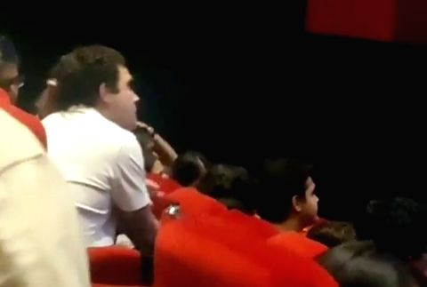 After resigning as Congress President, Rahul Gandhi on Wednesday watched a movie in a Delhi multiplex like a common citizen. - Rahul Gandhi