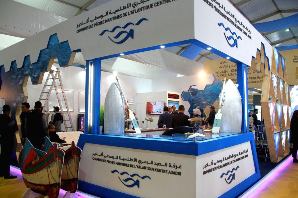 "AGADIR (MOROCCO), Feb. 23, 2019 People visit the 5th International Fisheries Fair ""Halieutis"", in Agadir, Morocco, on Feb. 20, 2019. The five-day fair opened here on Feb. 20, ..."