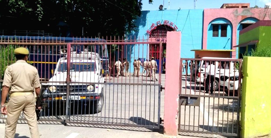 Agra: Security beefed up at Agra jail in Uttar Pradesh on Aug 8, 2019. (Photo: IANS)