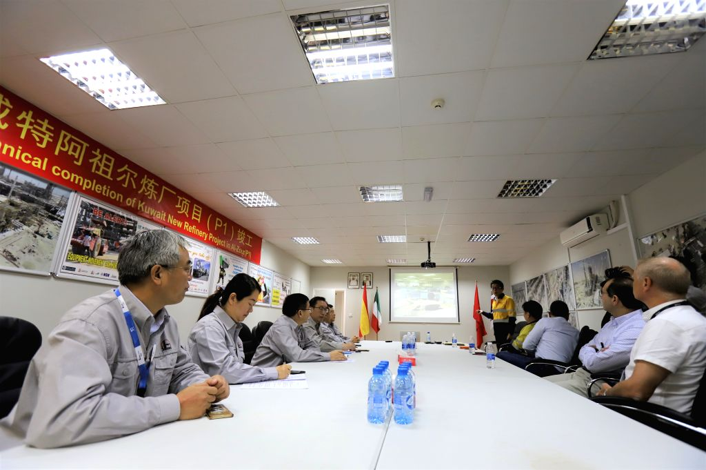 AHMADI GOVERNORATE (KUWAIT), Dec. 13, 2019 Representatives of Chinese and foreign companies attend a handover ceremony for Al-Zour New Refinery Project (NRP) in Ahmadi Governorate, ...