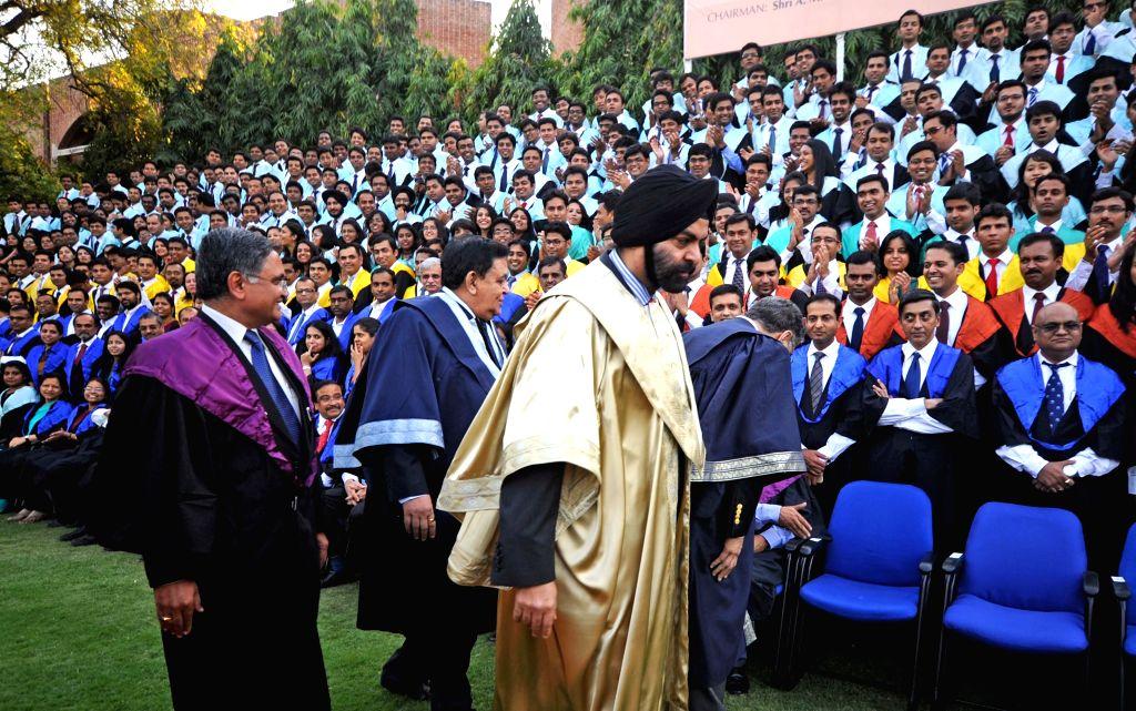 Master Card CEO Ajaypal Singh Banga during the 50th Annual Convocation of IIM-Ahmedabad on March 21, 2015. - Ajaypal Singh Banga