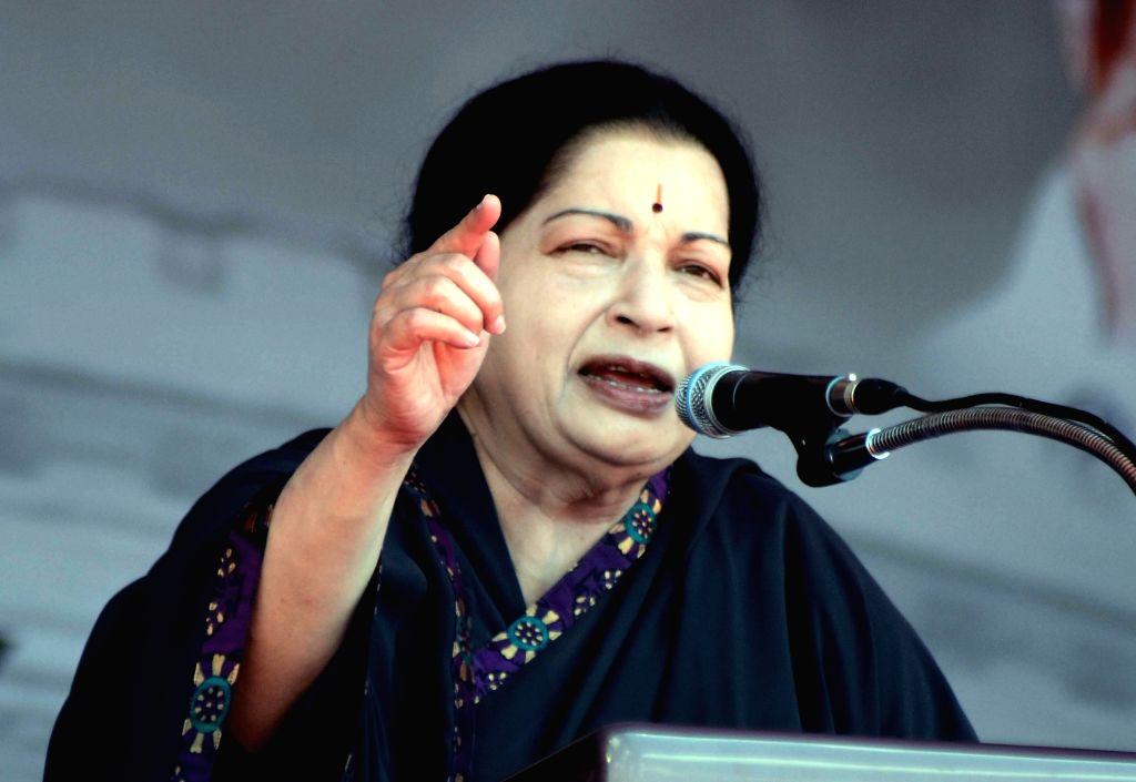 AIADMK supremo and Tamil Nadu Chief Minister J Jayalalithaa. (File Photo: IANS)