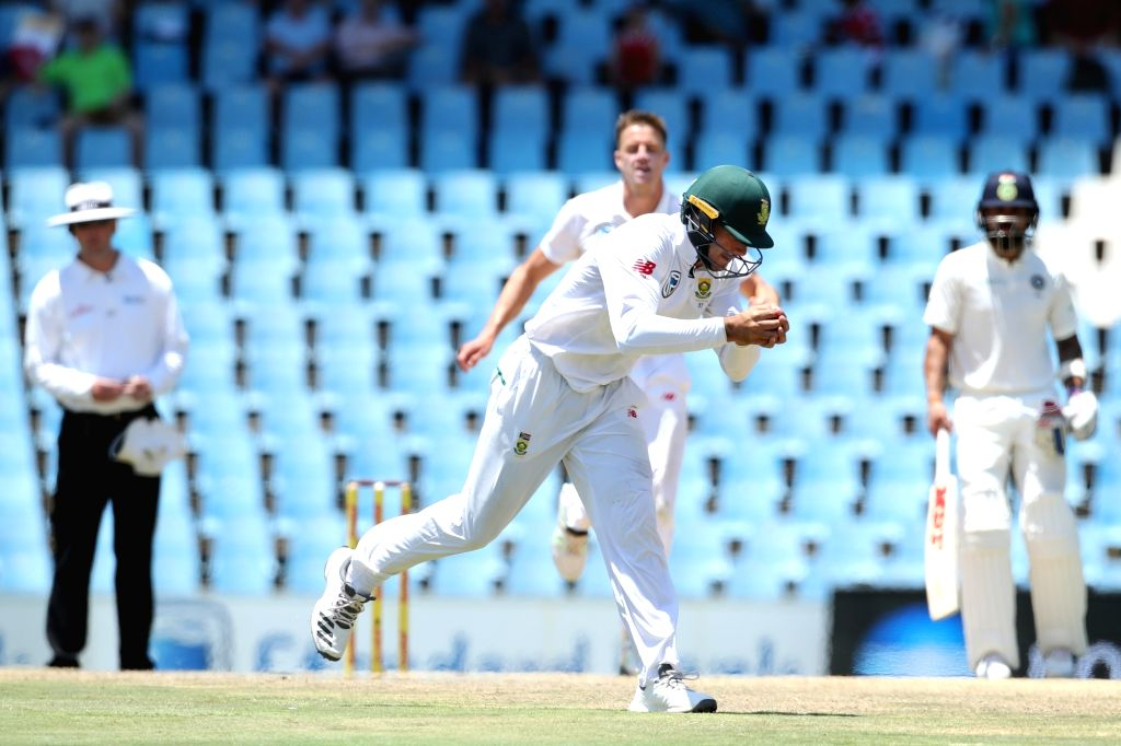 Aiden Markram of South Africa takes the catch to dismiss Ishant Sharma during day 3 of the second Test match between South Africa and India at the Supersport Park Cricket Ground in ... - Ishant Sharma