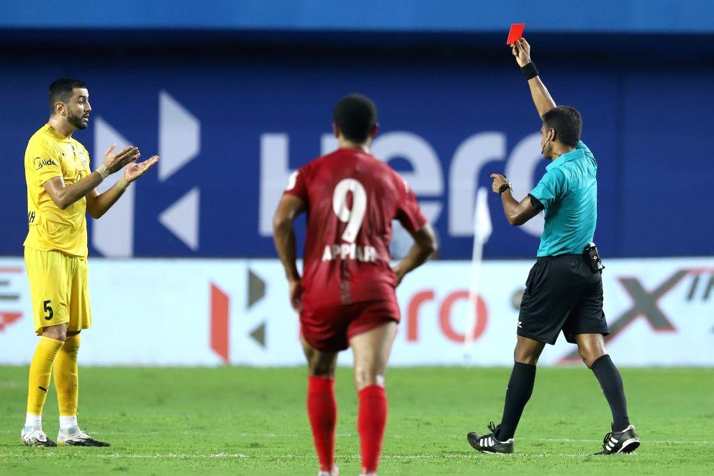 AIFF's disciplinary committee warns MCFC's Ahmed Jahouh.