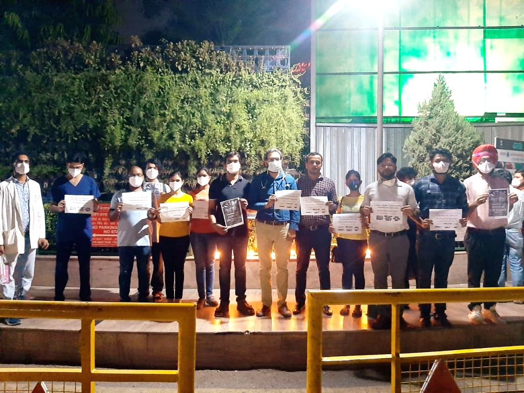 AIIMS docs hit streets as mark of solidarity with Hathras case victim.
