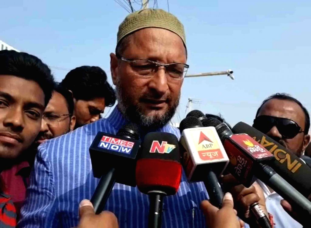 AIMIM president Asaduddin Owaisi talks to the media after casting his vote for Telangana Assembly elections in Hyderabad, on Dec 7, 2018.