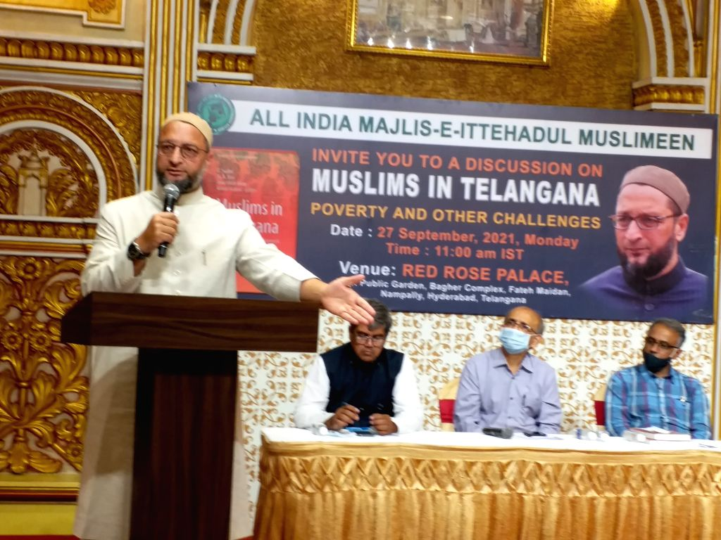 AIMIM Supremo Asaduddin Owaisi MP, addressing Muslims in Telangana discusses poverty and other challenges in Hyderabad organized by AIMIM, Amarullah Khan and Dr Sudhir on Monday, September ... - Amarullah Khan