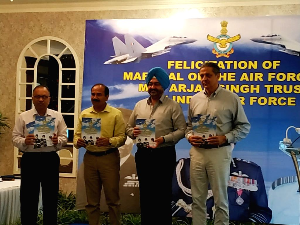 Air Chief Marshal BS Dhanoa, Chairman Chiefs of Staff Committee and Chief of the Air Staff and Air Chief Marshal Arup Raha (Retd), Chairman, Marshal of the Air Force and Arjan Singh Trust ... - Arjan Singh Trust and Arvind Singh