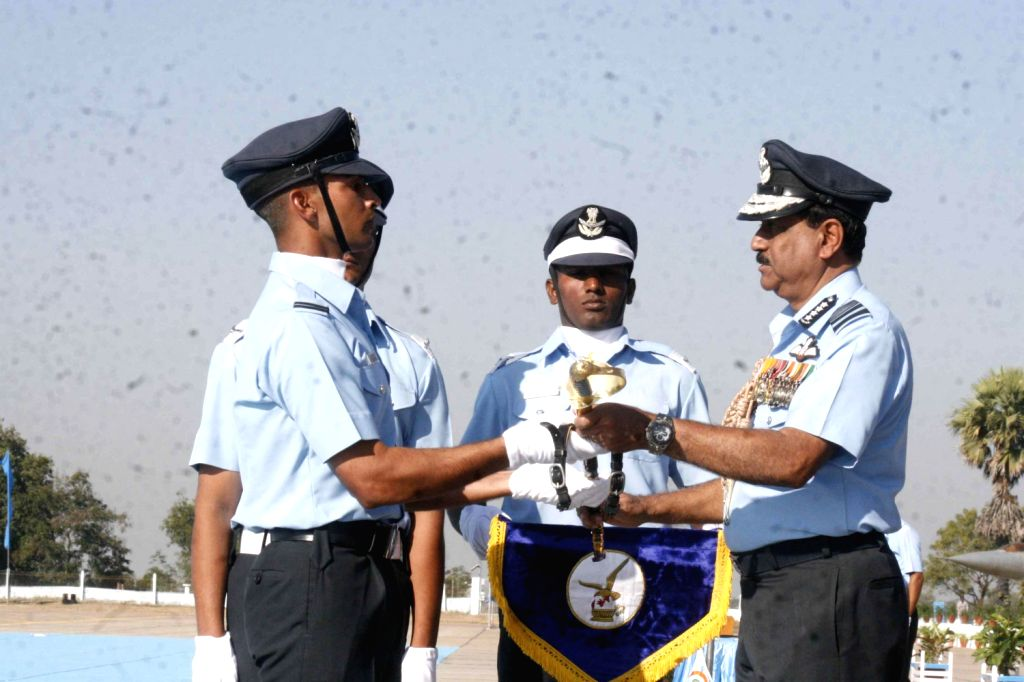 Air Chief Marshal NAK Browne, Chairman, Chiefs of Staff Committee (COSC) and Chief of the Air Staff reviewed the combined graduation parade of the flight cadets at the Air Force Academy, Dundigal on .