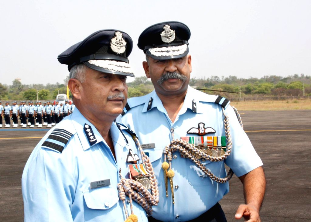 Air Force officers during the Golden Jublee celebrations of the 87th and 88th batch of Pilots' course and the 27th batch of the Navigators' Course at the Air Force Academy, Dundigal near Hyderabad on