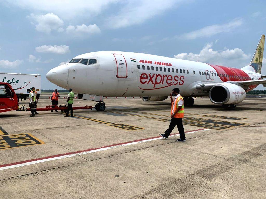 Air India Express flight IX 343 Kozhikode Dubai is now airborne at 1.40 PM. Captain Michale Saldanha on command with First Officer Akhilesh Kumar. - Michale Saldanha and Officer Akhilesh Kumar