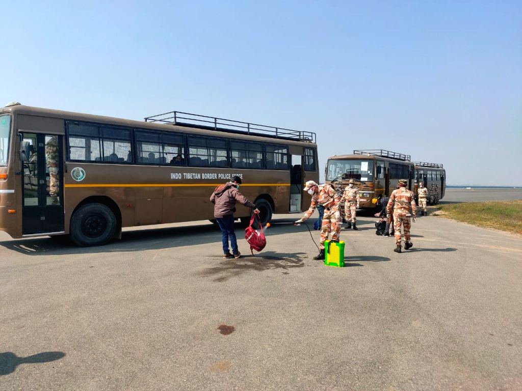 Air India flight from Rome, Italy landed at IGI Airport in New Delhi at 9.15 AM with 263 evacuees, on March 22, 2020. All the evacuees have been taken to ITBP Chhawla Quarantine Facility, ...
