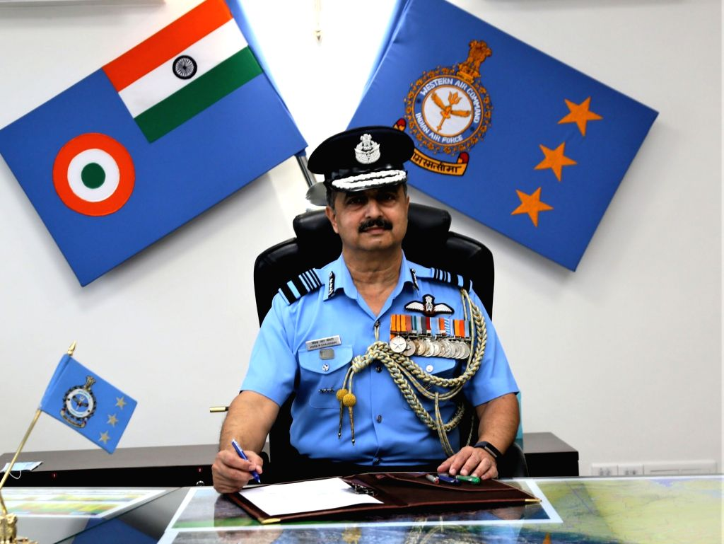 Air Marshal V.R. Chaudhari takes over as the Air Officer Commanding-in-Chief (AOC-in-C) of Western Air Command, Indian Air Force (IAF), in New Delhi on Aug 1, 2020.