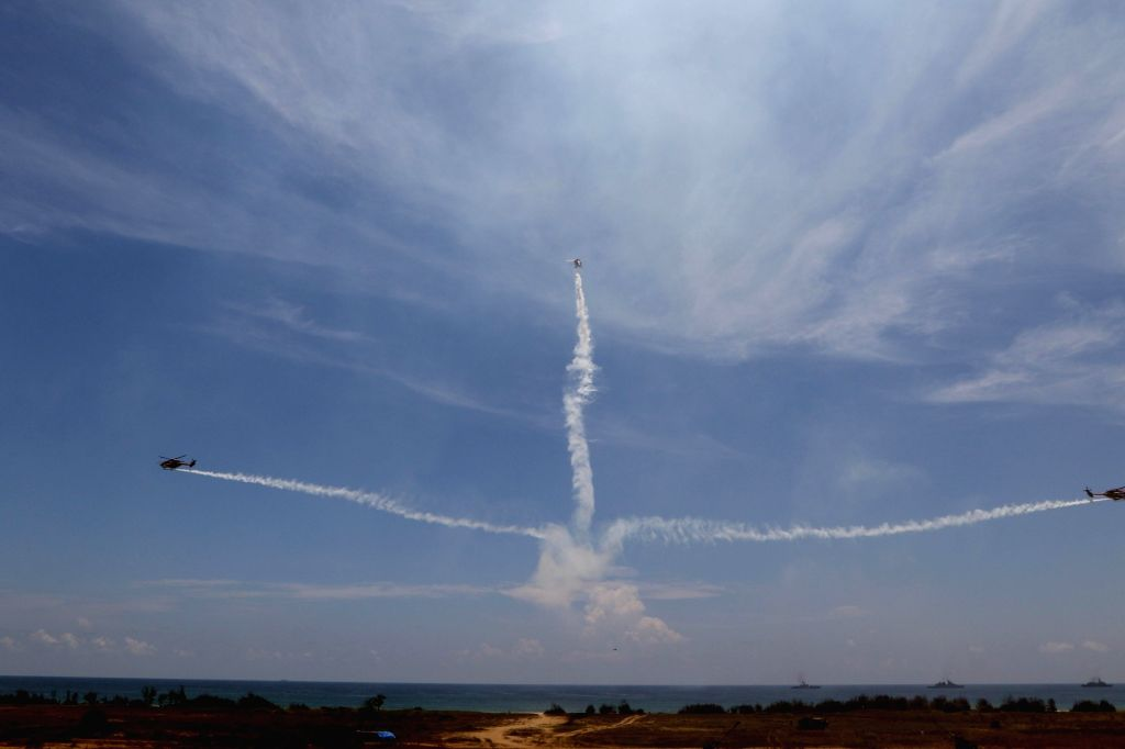 Air show underway at DefExpo 2018, in Chennai on April 11, 2018.