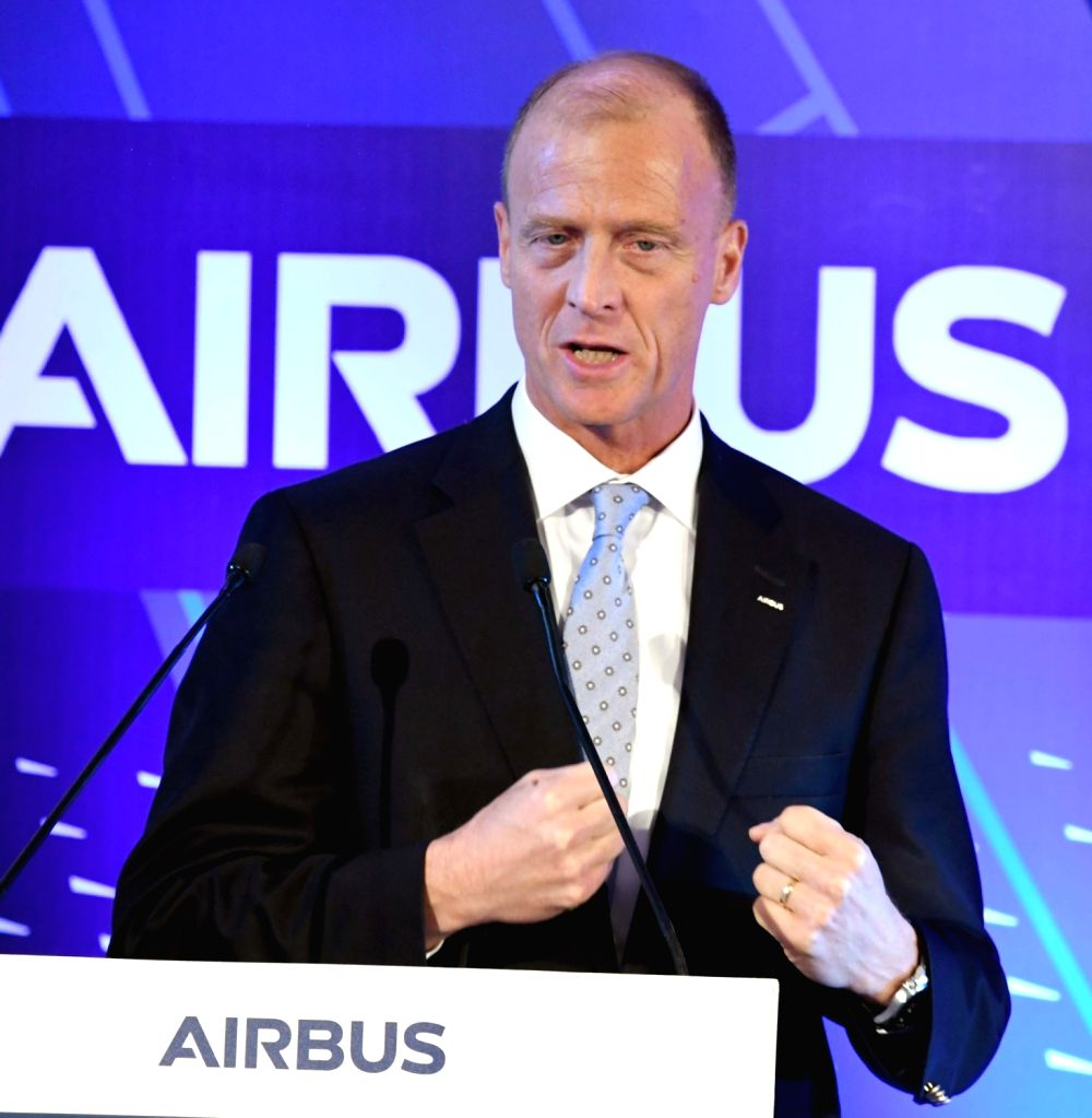 Airbus CEO Tom Enders unveils the Airbus India Training Centre at Aerocity, in New Delhi on March 17, 2017.
